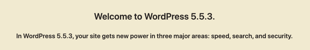An example of how a WordPress update focused on website speed and security.